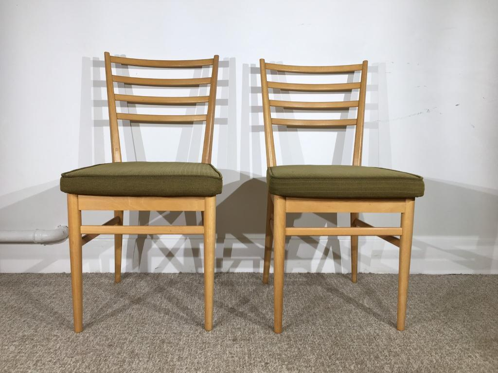 vintage 60s furniture. Pair Vintage Mid Century Meredew 60s Beech Danish Style Dining Chairs Retro Furniture I