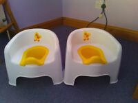 2 Children's Potty Toilet Chairs in very good condition.