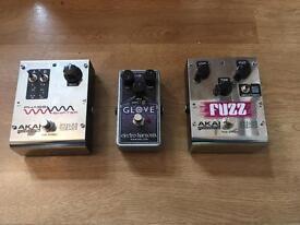Guitar pedals for sale - Akai Custom Shop Phaser, EHX OD Glove, Akai Custom Shop Fuzz