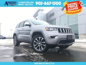 2018 Jeep Grand Cherokee LIMITED - AWD, LEATHER, BACKUP CAM, HEA