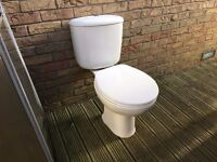 MODERN WHITE CLOSE COUPLE TOILET COMPLETE