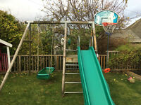 TP Sherwood climbing frame, slide & pirate swing