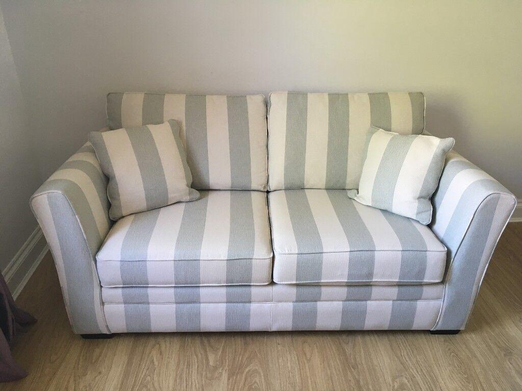 Blue Striped Sofa | Baci Living Room