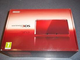 Nintendo 3DS In Metallic Red as new