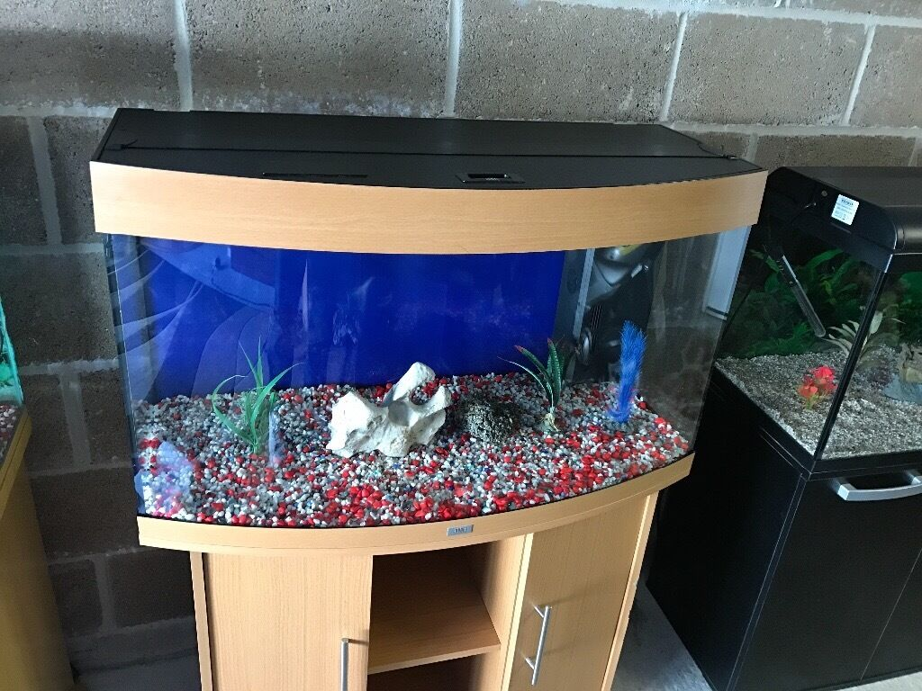 Juwel aqua clean aquarium fish tank gravel - 180l Juwel Bow Front Fish Tank Full Set Up V G C With Stand Filter Heater 2 X