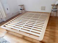 Designer bed frame (150x200cm matras size)