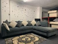 Grey DWELL Corner sofa delivery 🚚 sofa suite couch furniture