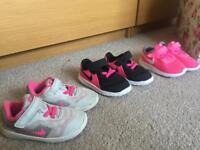 Bundle girls Nike trainers size 5.5 and 6.5