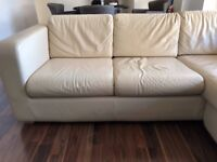 Habitat reversible chaise Leather Sofa - great condition!