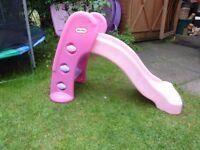 Pink Little Tikes toddler slide.