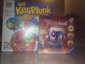 Kerplunk and puzzleball