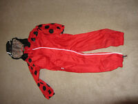 Ladybird puddle suit 2-3 years old