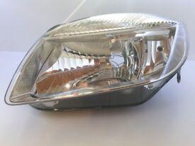 Skoda Fabia 2007> 2010 Headlight Headlamp NEW N/S Left, Passenger Halogen
