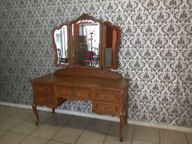 dressing table Oak Louis XV, French style