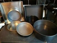 Cake tins and baking stuff