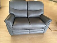 2 seater brand new grey leather sofa