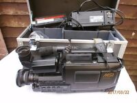 VERY LARGE VHS CAMARA IN CASE NOT SURE IF WORKS AS BEEN IN LOFT