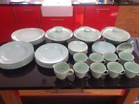 BERYL WOODS WARE GREEN CROCKERY SELECTION