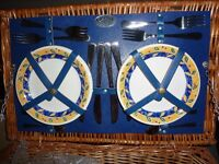 Wickerwork picnic basket