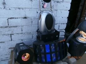 4 DISCO LIGHT GOOD CONDITION MUST SEE WORKING BARGAIN