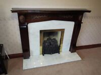 Marble & Mahogany fire surround. Excellent condition