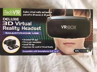 iTech VR DELUXE 3D Virtual Reality Headset - Smartphone Use