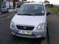SUZUKI WAGON R 52 REG MOT till August 2019, a very reliable car with service history