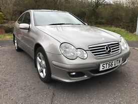 Mercedes C200 Auto Coupe with panoramic glass roof