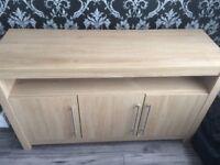 Consort oak sideboard.