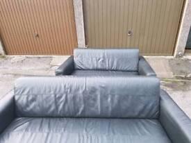 3 & 2 Seater genuine leather sofas