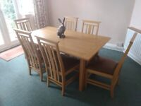 European Oak Dinning Table and Chairs (Ducal)