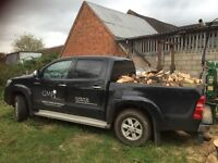 LOGS FOR SALE, seasoned, hardwood, locally sourced, free delivery within 20 mile radius of Alcester