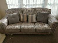 2 x 3 peice luxuary italian sofa lovely only 2 months old