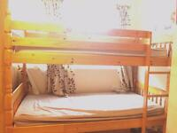 Bunk bed mattresses included . Excellent condition
