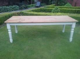 Farmhouse Table, Shabby Chic. 7 foot!