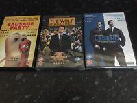 7 dvds some new still sealed