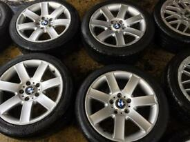 "17"" GENUINE BMW 3 SERIES 1 SERIES ALLOY WHEELS SET OF 4"