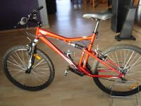 ROCKRIDER 6.00 FULL SUSPENSION MOUNTAIN BIKE