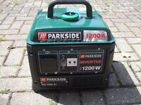 inverter Generator Parkside 1200 w 4 stroke, used for sale  Gravesend, Kent