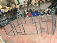 PET DOG PUPPY KITTEN RABBIT FENCED ENCLOSURE 1m HIGH 12 X 80cm PANELS THAT CAN SEPERATE