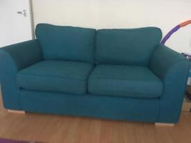 DFS 2 Seater sofa's x 2 (2yrs old) - Teal Blue