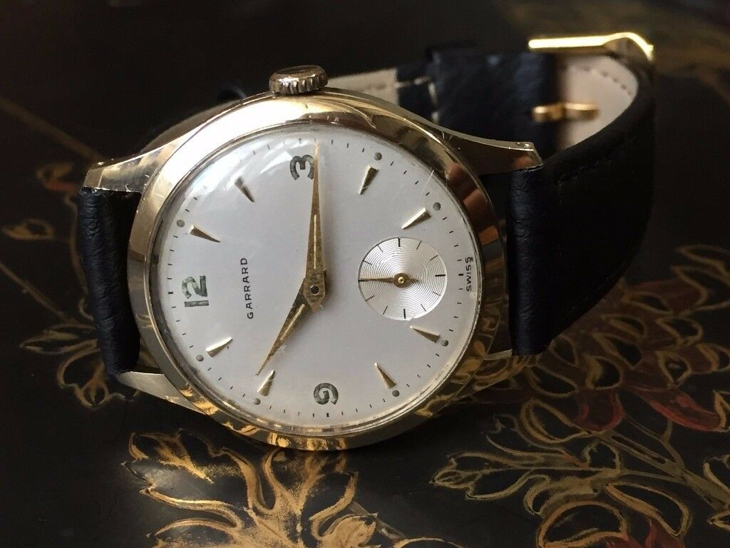 Stunning vintage 9k 9ct 375 solid gold Garrard mens watch REDUCED