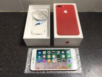**Immaculate Condition** Iphone 7 PLUS, 128GB, Red Limited Edition, UNLOCKED (185)