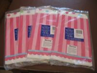 ' Sweet Little Cupcake Girl ' disposable table covers x 6