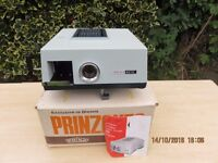 VINTAGE SLIDE PROJECTOR AND RETRACTABLE PROJECTOR SCREEN for sale