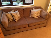 Marks & Spencer Fenton Large 2 Seat Sofa and Armchair, silk cushions included.