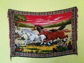 Horse wall rug.