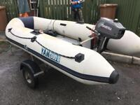 Yam rib 3.5hp outboard and trailer