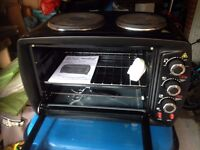 Countertop Electric Oven/Grill and 2-ring Hob in Excellent Condition