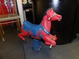 Solid Cast Aluminium Rocking Horse Playground Equipment